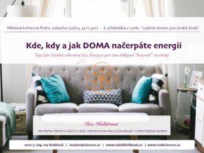 Záznam přednášky - KDE, kdy a JAK DOMA načerpáte energii